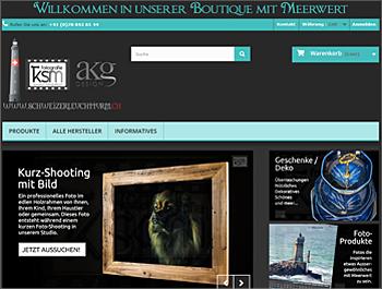 Referenz - Schweizer Leuchtturm GmbH - Online-Shop - akg Design