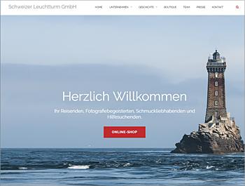 Referenz - Schweizer Leuchtturm GmbH - Webseite - akg Design