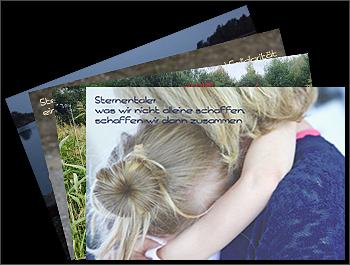 Referenz - Sternentaler - Postkarten - Layout-Design - akg Design