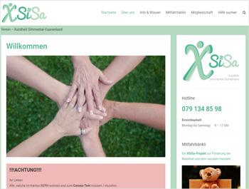 Referenz - Verein XSiSa - Webseite - akg Design